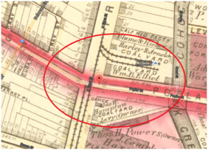 Poplar Street in 1875